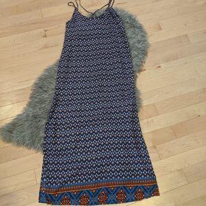 Fleur Blue - NWT Printed Maxi Dress